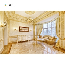 Laeacco Indoor Curtain Chandelier luxury Fold Photography Backgrounds Photocall Photographic Backdrops For Photo Studio