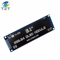 TZT Real OLED Display 3.12 256*64 25664 Dots Graphic LCD Module Display Screen LCM Screen SSD1322 Controller Support SPI