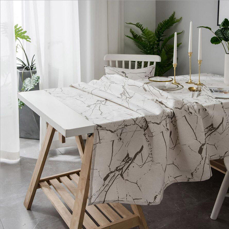 New Tablecloth Nordic Marble Rectangular Tablecloth For Wedding Decoration Simple Print Table Cover & New Tablecloth Nordic Marble Rectangular Tablecloth For Wedding ...