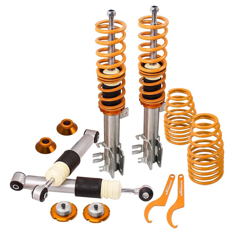 Coilovers Shock for Fiat 500 Panda Mk2 Mini platform Abarth SUSPENSION COIL STRUT LOWERING KIT for Ford KA MK2 from 2000Coilovers Shock for Fiat 500 Panda Mk2 Mini platform Abarth SUSPENSION COIL STRUT LOWERING KIT for Ford KA MK2 from 2000