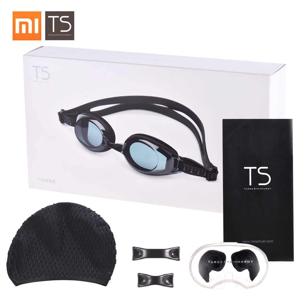 Xiaomi Turok Steinhardt TS Adult Anti-fog Coating Swimming Goggles Set Waterproof Swim Goggles + Swimming Cap + Swimming Earplug