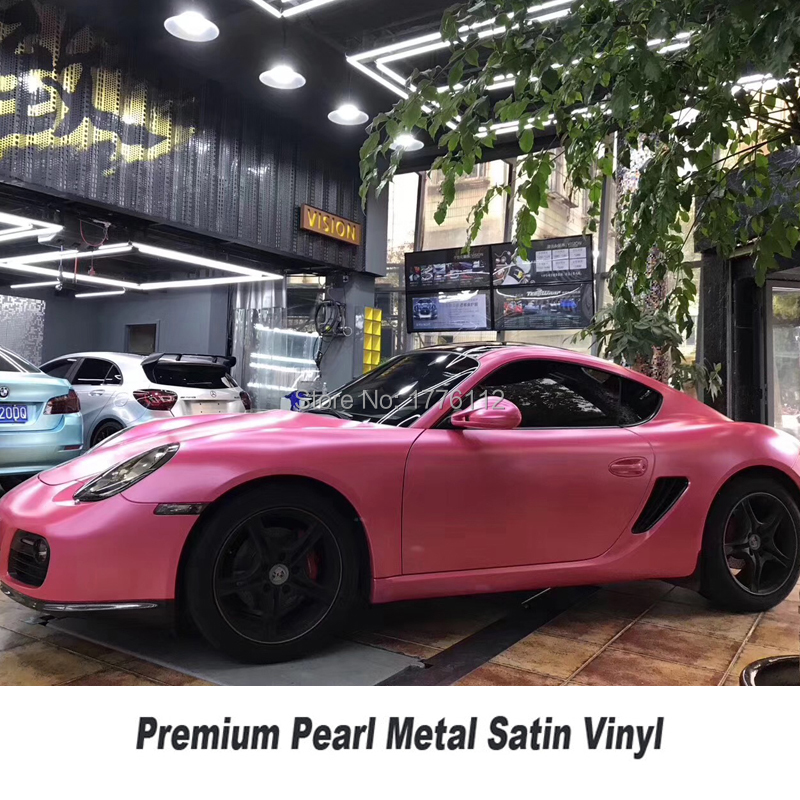 Highest quality pink matte metallic wrapping film pearl metal pink Vinyl wrap foil air bubble free