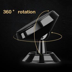 Image 4 - Voiture téléphone Mobile support magnétique 360 degrés sortie dair voiture magnétique Navigation multi fonction support de téléphone Mobile voiture style