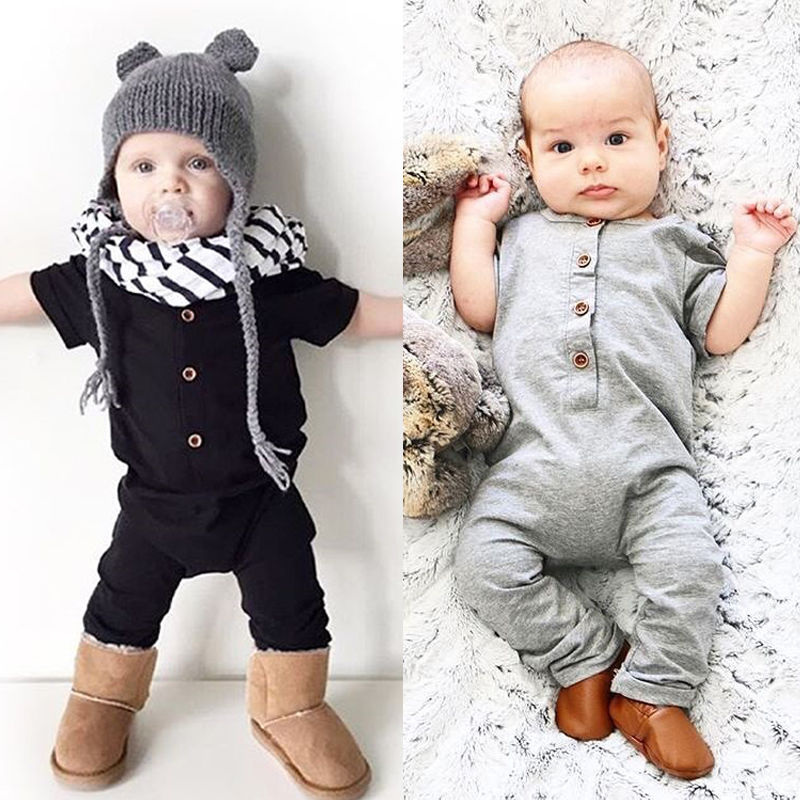 Pudcoco Baby Jumpsuits Newborn Toddler Baby Boy Girl   Romper   Jumpsuit Clothes Outfits 0-24M