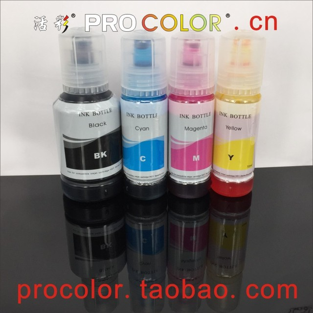 003 104 504 544 CISS Dye ink refill kits For Epson L4150 L4160 L6161 L3110  L3150 ET-2710 ET-2711 ET2710 Eco Tank inkjet printer