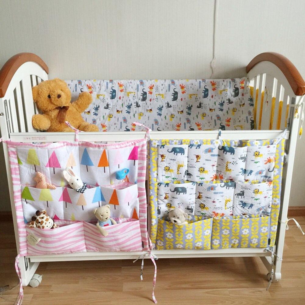 Baby Hängen Stoßdämpfer Lagerung Bett Krippe Multi Funktionale Tasche Zeug Stoßstange Tasche Ideales Geschenk FüR Alle Gelegenheiten