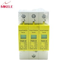 SPD 4P 10KA~20KA ~385VAC House Surge Protector Protective  High Quality Low-voltage Arrester Device стоимость