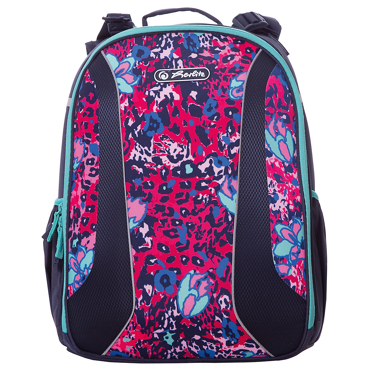 School Bags HERLITZ 7936485 schoolbag backpack orthopedic bag for boy and girl animals flowers imido brand designer backpack women genuine leather bag for girl schoolbag black sheepskin fashion rivet mochila feminina sld051
