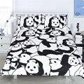 Panda Pattern Bedding Set Duvet Cover Pillow Case King Queen Full Twin Size For Kids Student Children Home Use beddingoutlet