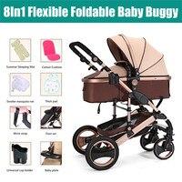8 в 1 складной четыре коляска на колёсах для 0 3 лет ребенок гарантия детские детская коляска Путешествия коляска