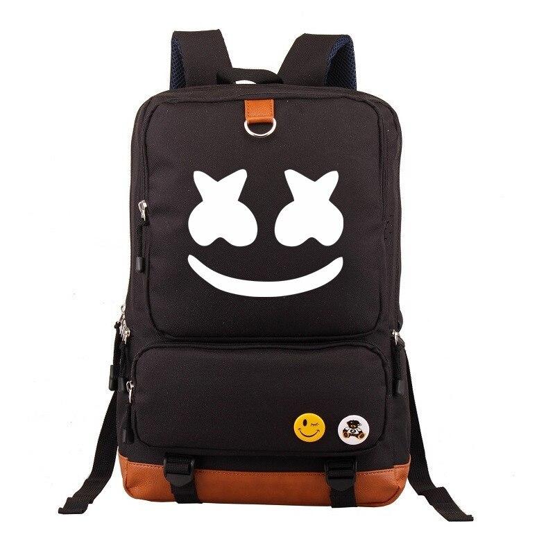 Marshmallow Cosplay Backpack DJ Marshmello Oxford Cloth Bag Unisex Schoolbag Daily Ruckpack Student Satchel Anime Halloween