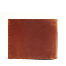 Handmade Vintage Crazy Horse Genuine Leather Wallet Men Wallet Leather Men Purse Clutch Bag Male Purse Money Clips Money Bag