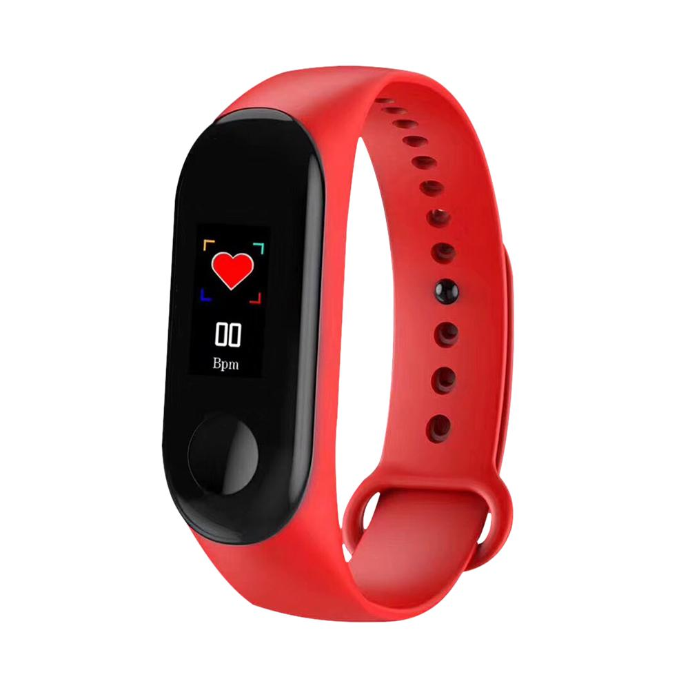 M3 Color Screen Smart Bracelet Fitness  Step Counter Heart Rate Blood Pressure   Smart Reminder Waterproof Sports WristbandM3 Color Screen Smart Bracelet Fitness  Step Counter Heart Rate Blood Pressure   Smart Reminder Waterproof Sports Wristband