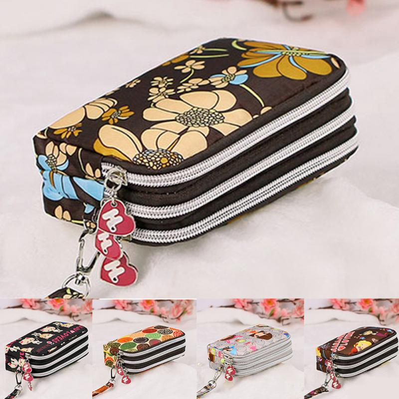 Printed 3 Layers Zipper Women's Wallet Coin Purses Change Purse Korean Fashion Small Women's Bag Zipper Women Purse Female #20