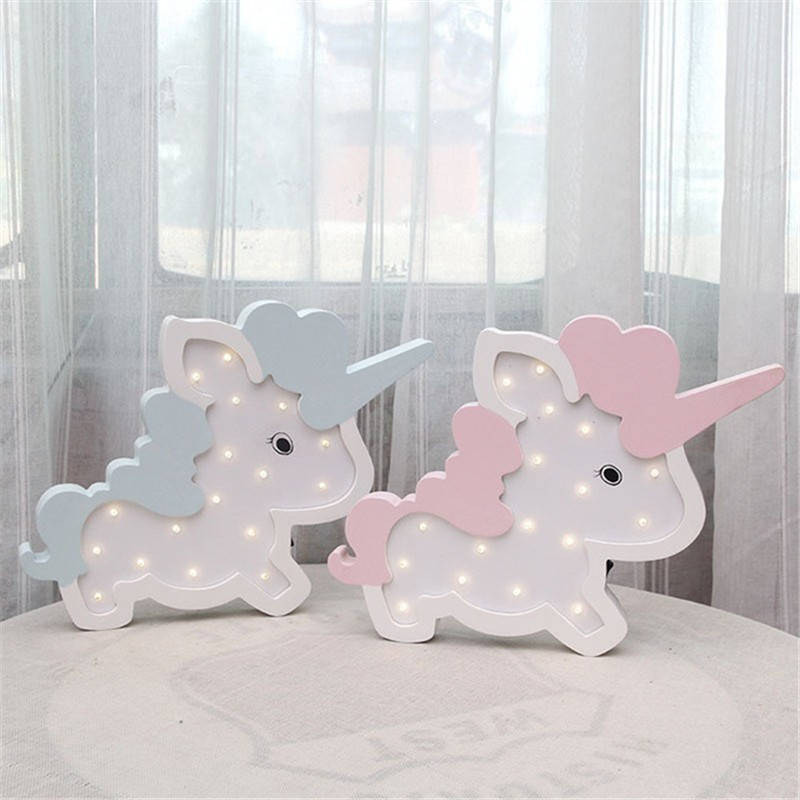 Nordic Unicorn Wall Decoration Battery LED Night Lamp Lovely Children Rome Decorative Lights For New Year Birthday Gift Hot SaleNordic Unicorn Wall Decoration Battery LED Night Lamp Lovely Children Rome Decorative Lights For New Year Birthday Gift Hot Sale