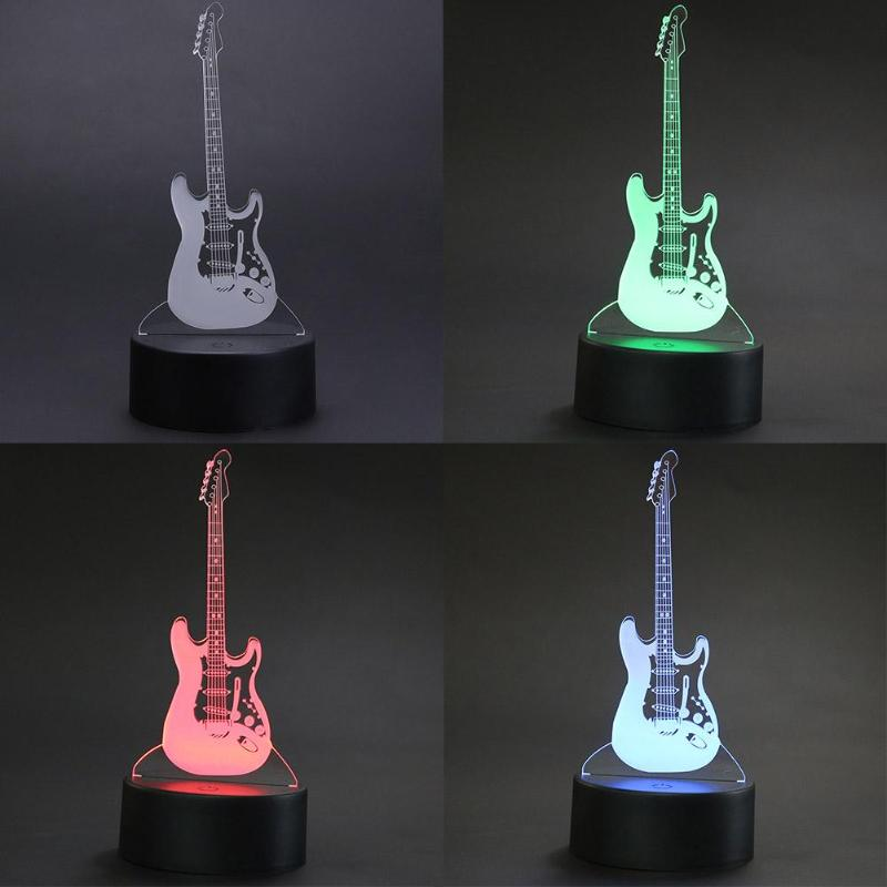 Led Night Lights Lights & Lighting Professional Sale Acrylic Board Guitar Pattern Animal Usb Led Night Lamp Flash 3d Atmosphere Light Color Change Led Table Desk Lamp Kids Gift Toy Beneficial To Essential Medulla