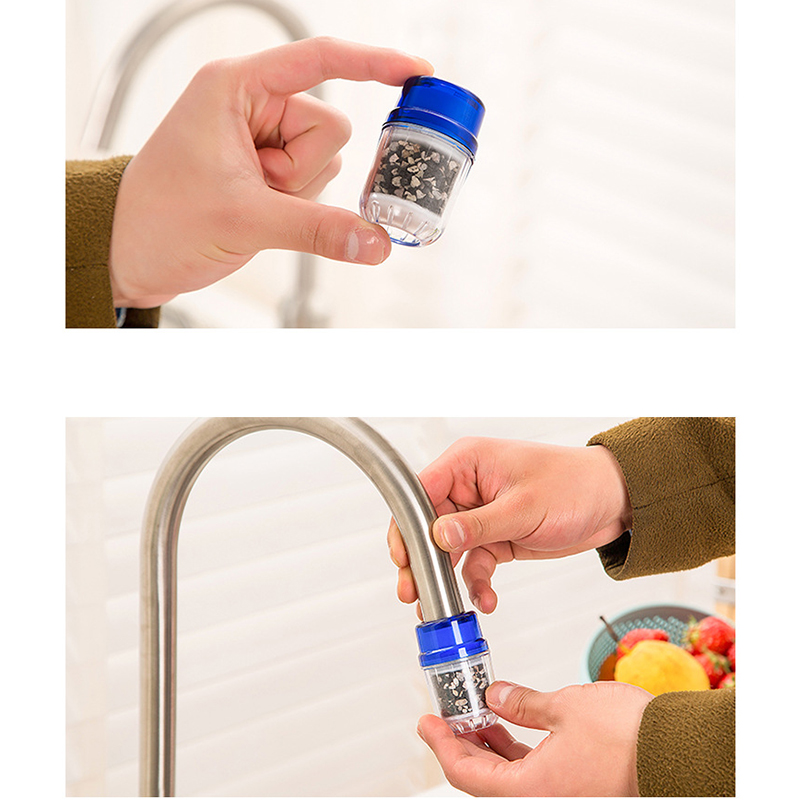 Kitchen Faucet Water Nozzle Filter Healthy Activated Carbon Water Purifier Cleaner Cartridge Bath Kitchen Faucet Tap Accessories