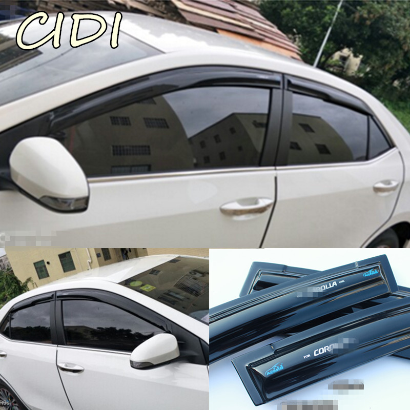 Dark Smoke Car Rain Sun Window Shade Guard Visor by IKON MOTORSPORTS 2011 2012 2013 2014 2015 2016 2017 Window Visors Compatible With 2010-2018 Toyota 4Runner