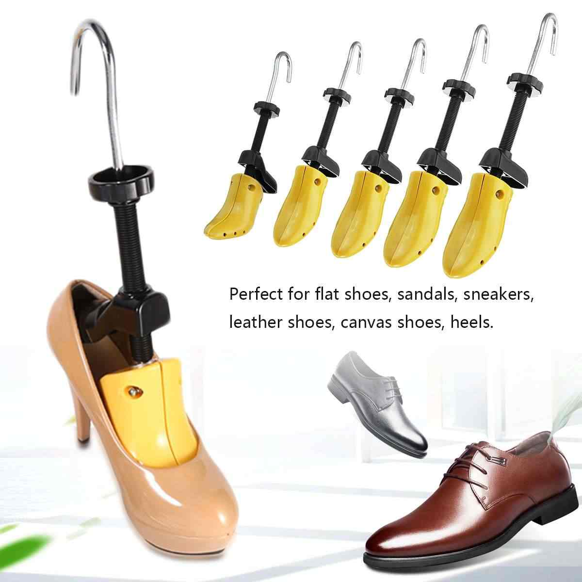 Boyut S/M/L 28-48 erkek kadın 2-Way ayarlanabilir ayakkabı sedye topuklu çizmeler ağaçları şekillendirici genişletici Unisex plastik korumak şekli