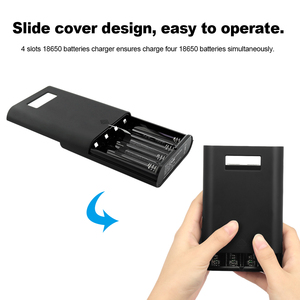Image 5 - Soshine E3S QC pil şarj edici güç bankası şarj kutusu LCD ekran çok fonksiyonlu 30W hızlı şarj 4 yuvası 18650 piller şarj
