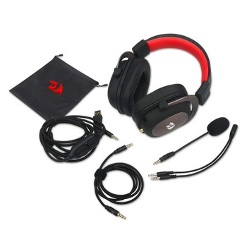 7.1 Surround-Sound Headset Redragon H510 Zeus Wired Gaming Headphone Gamer With Detachable Microphone For PC,PS4,Xbox One,Switch 6