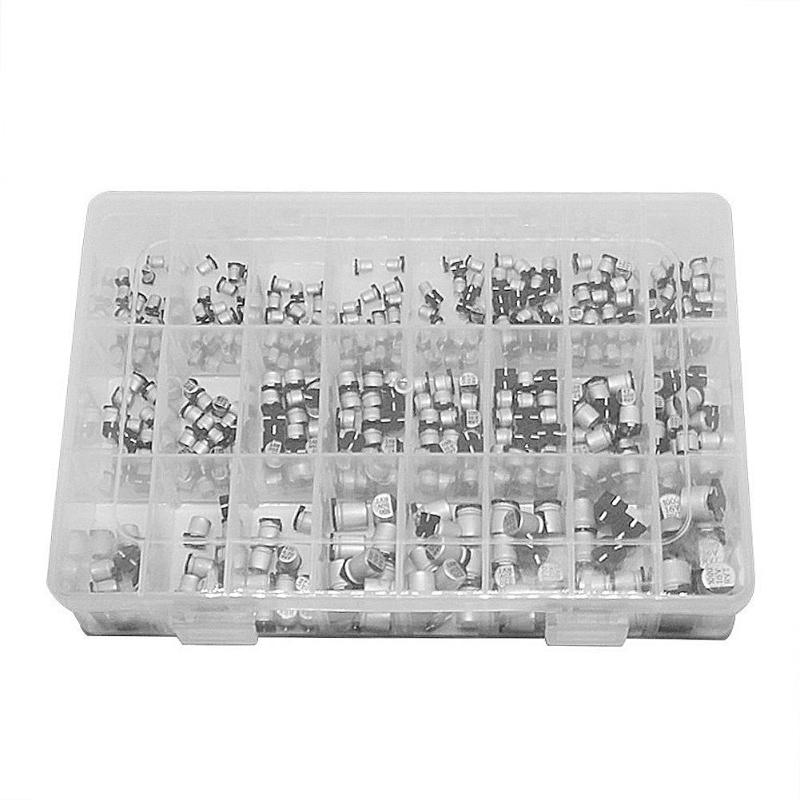 400pcs/lot 1uF-1000uF 24 Values Assorted Kit Electrolytic Capacitor SMD Aluminum Electrolytic Capacitor Electrical Equipment400pcs/lot 1uF-1000uF 24 Values Assorted Kit Electrolytic Capacitor SMD Aluminum Electrolytic Capacitor Electrical Equipment