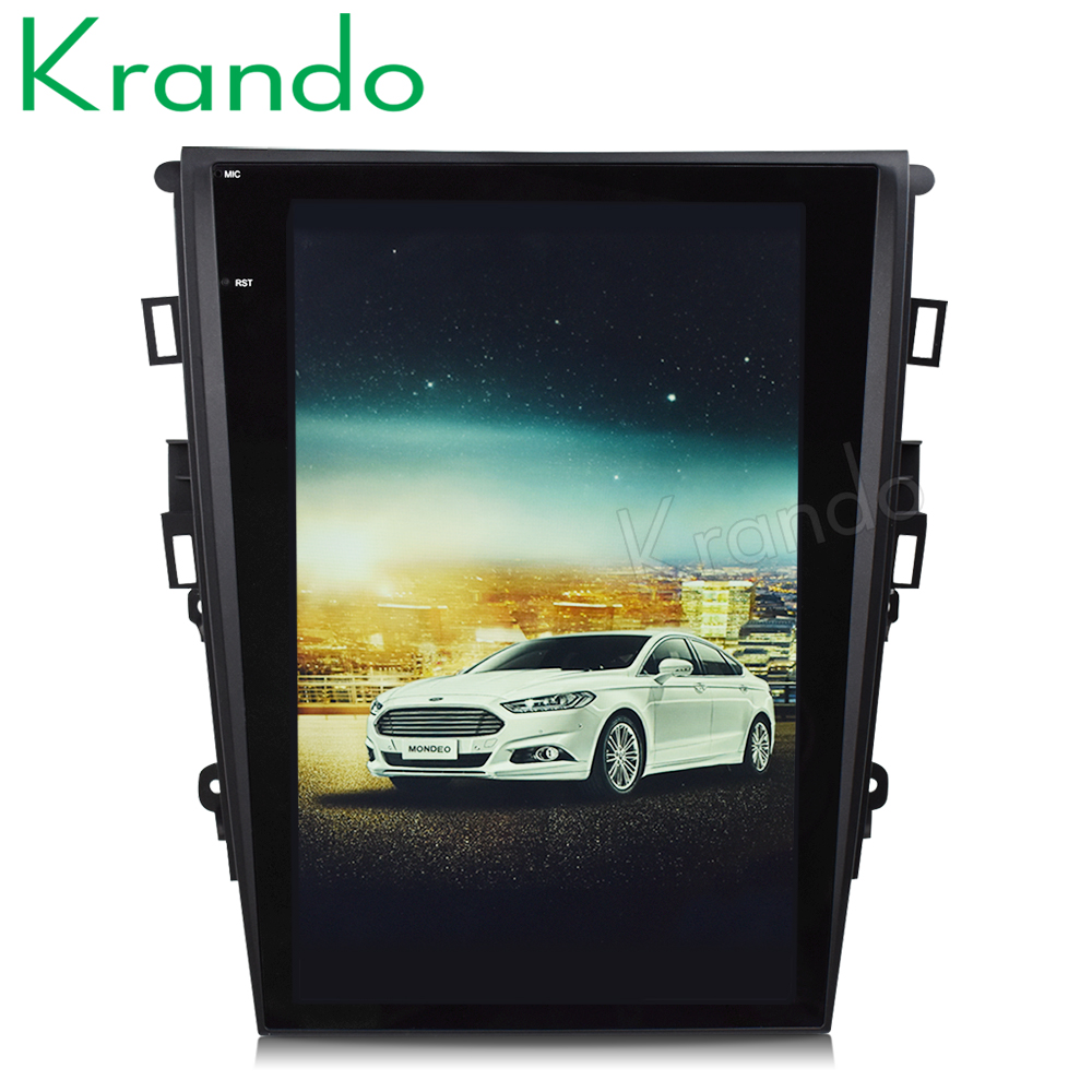 Krando Android 7 1 12 1 Tesla Vertical screen car radio gps navigation for ford mondeo
