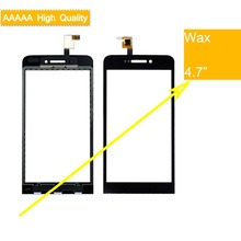 10Pcs/lot For Wiko Wax Touch Screen Panel Sensor Digitizer Front Outer Glass Touchscreen Wax Touch Panel Black Replacement white black new touch screen digitizer supra 713gtablet outer touch panel glass sensor replacement freeshipping