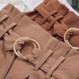 Image 4 - PEONFLY jupe longue mi longue pour femme, jupe élégante automne hiver, velours, coréen, jupe plissée, taille haute, ligne a, 2019
