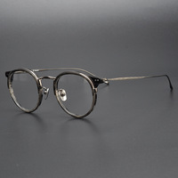 Brand Vintage Round Eyeglasses Men Ultralight Titanium Square Optical Glasses Frame Spectacle Frames Prescription Glasses male