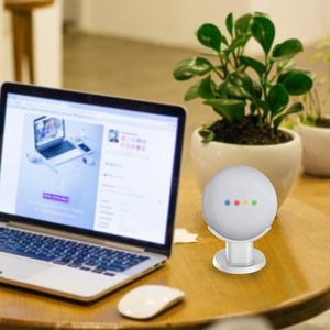 Image 5 - Dla Google Nest Mini Home Mini stojak na biurko asystenci głosowi kompaktowy uchwyt Case Plug in Kitchen sypialnia Study Audio Mount
