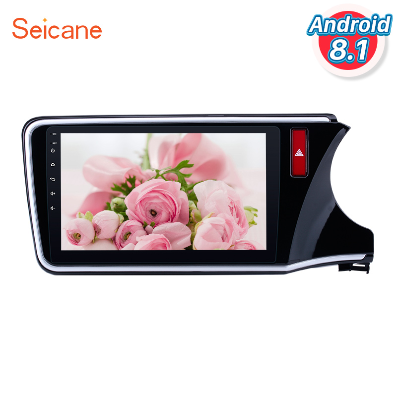 <font><b>Seicane</b></font> Android 8.1 10.1 inch for 2014 2015 2016 2017 <font><b>HONDA</b></font> <font><b>CITY</b></font> RHD 1024*600 Touch Screen Radio 3G WIFI Bluetooth Music SWC image