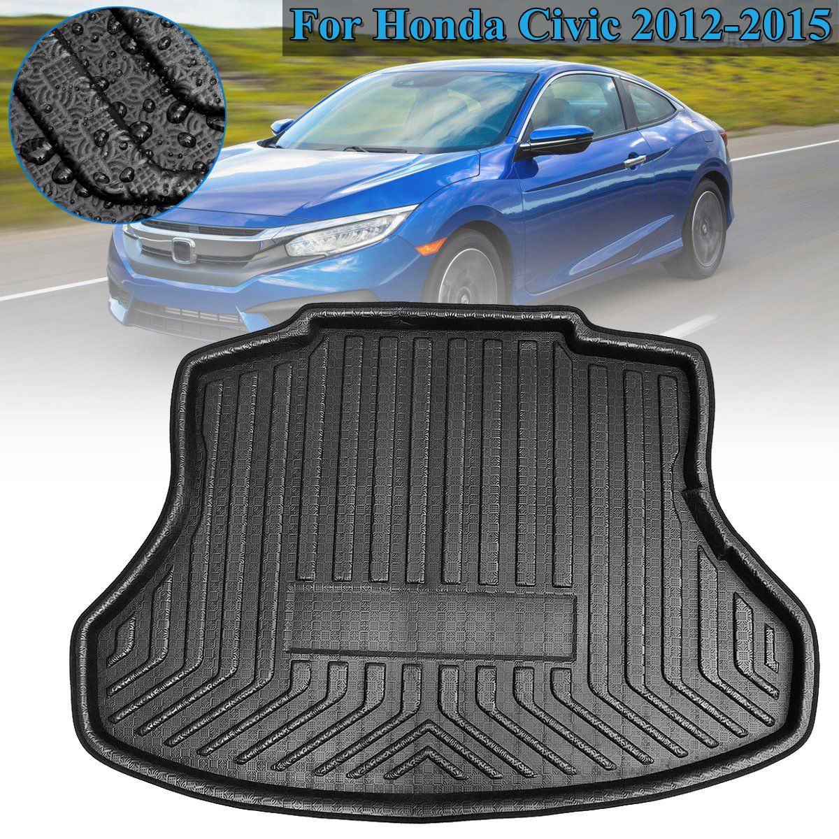 1 PCs Rear Trunk Liner Cargo Boot Mat Floor Carpet Tray Mud Kick Protector for Honda for Civic 2012 2013 2014 2015 Accessories