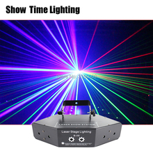 Zeigen zeit RGB Laser bild Linien Strahl Scannt DMX DJ Dance Bar Kaffee Weihnachten Home Party Disco Wirkung Beleuchtung Licht system Zeigen