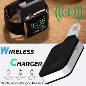 Image 4 - Grande capacidade portátil apple watch 1/2/3 carregador sem fio acessórios do telefone celular chaveiro carregador sem fio portátil novo