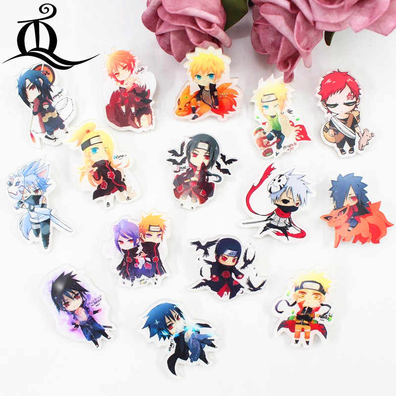 TQ 1 PCS MIX Naruto Cartoon Pictogrammen op De Pin Kawaii Icoon Badge Bacges op Rugzak Badges voor Kleding Acryl badges Z15