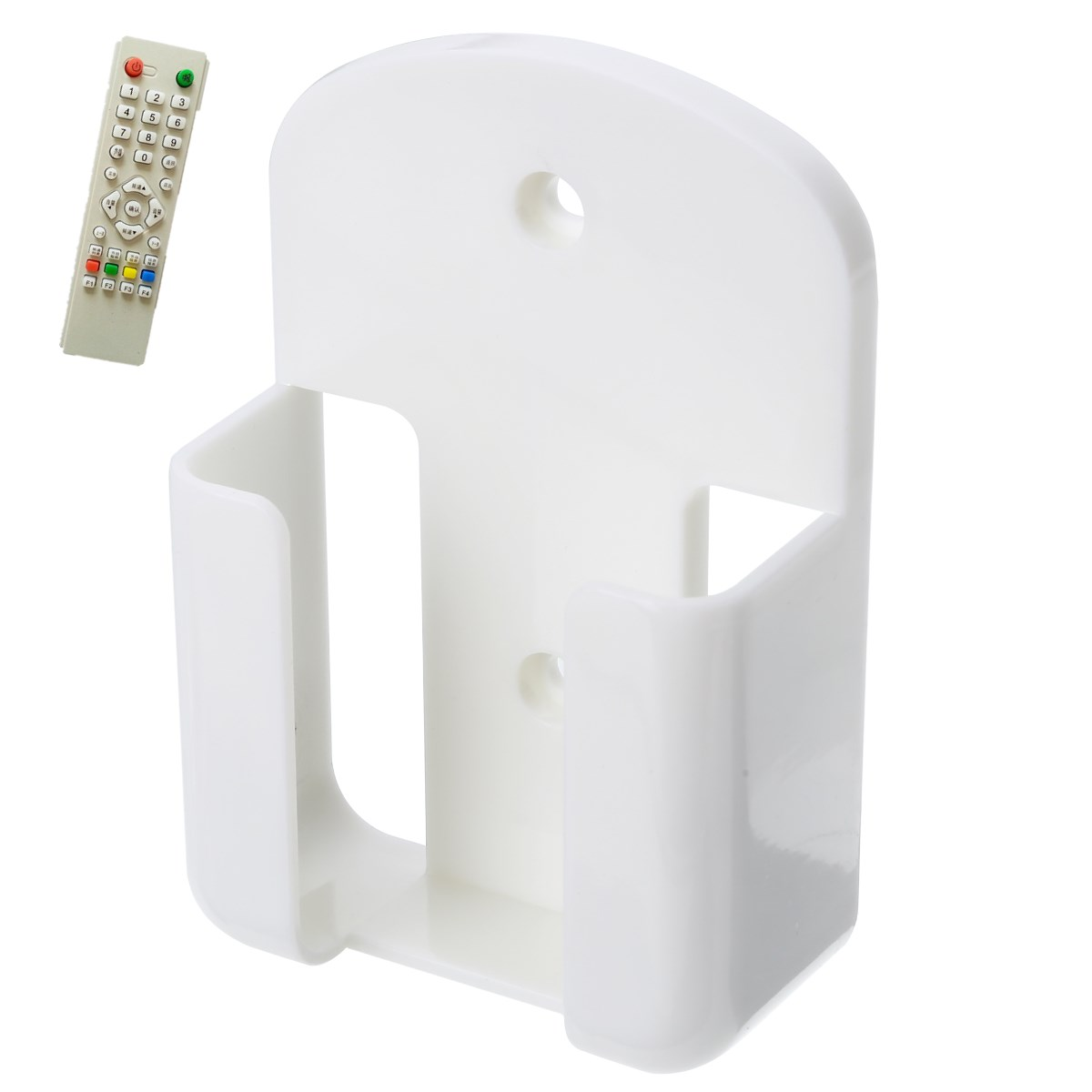 Wall Mounted <font><b>Remote</b></font> Control Storage <font><b>Holder</b></font> Box ABS Wall Hanging Box Home Storage Tool image