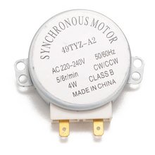 Microwave Oven Synchronous Motor 49TYZ-A2 AC 220-240V CW/CCW 4W 4 RPM Synchronous Motor with 2 Pins Terminals стоимость
