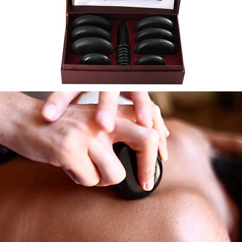 SPA huile essentielle énergie pierre masseur sûr convivial fournitures de soins de santé réflexologie marche pierre pour masseur de corps Relax