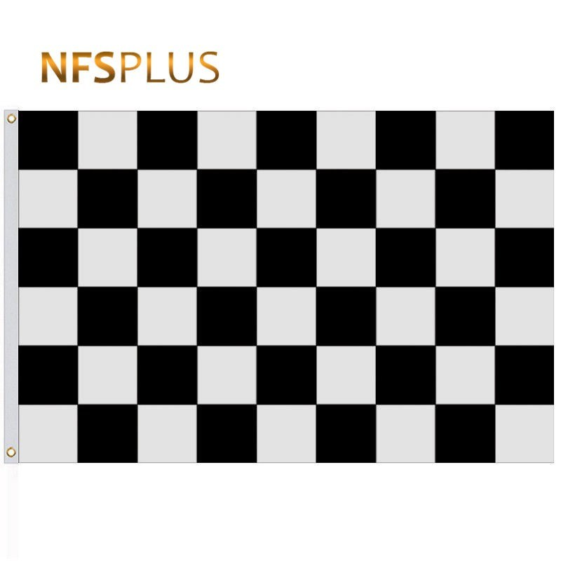 90x150cm Checkered Flag 100% Polyester Black White Chequered Printed F1 Racing Flags and Banners Decorative Sports Car Flag
