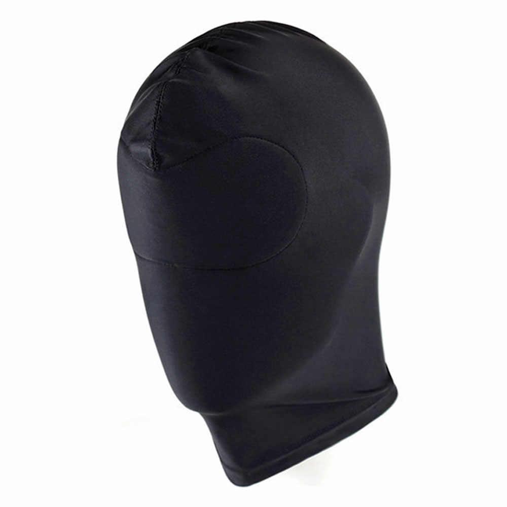 Ватин сдержанный капюшон маска для игр для взрослых раб эротическая игрушка для секса головной убор SM бондаж секс-игрушки для пары сексуальная маска на голову 1 шт.