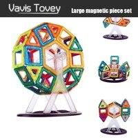Vavis Tovey 30 200pcs Magnetic Building Blocks Magnet Designer Construction Sets toddler Toys Kids brinquedos gifts