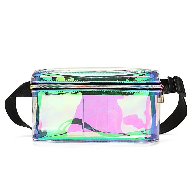 Transparent Waist Bags Women Fanny Pack PVC Waist Packs Laser Clear Holographic Belt Bags 2019 New