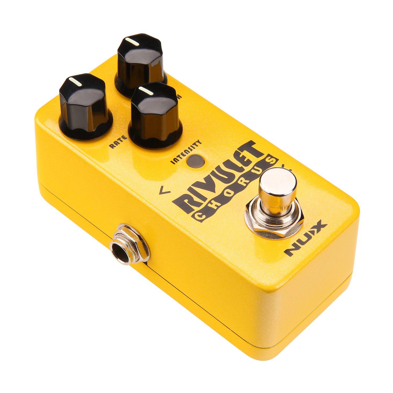 Pédale d'effet guitare RIVULET Chorus NUX NCH-2 tamponnée/véritable contournement prend en charge la mise à niveau du micrologiciel USB
