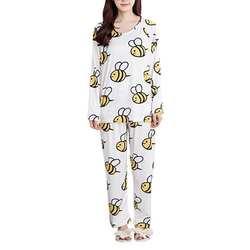 Для женщин пижамный комплект Демисезонный новые тонкие мультфильм с длинными рукавами милая одежда для сна костюм Повседневное Домашняя