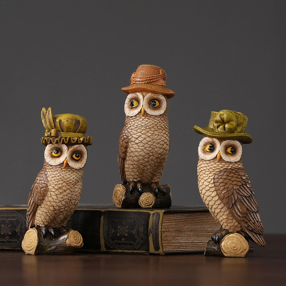 Cute Owl Innovative Home Decoration Statues Handcrafted Resin Art Carving Animal FigurineCute Owl Innovative Home Decoration Statues Handcrafted Resin Art Carving Animal Figurine