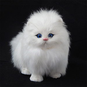 Image 2 - 2019 Lovely Electric Simulation Stuffed Plush Cats Toys Soft Sounding Cute Plush Cat Doll Toys for Kids