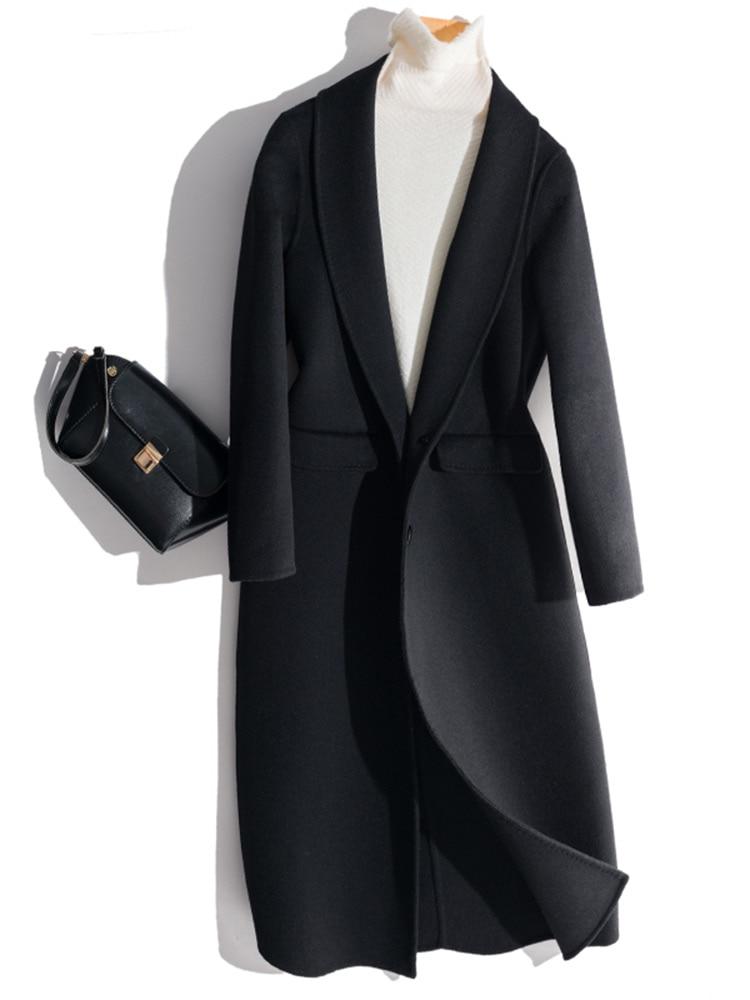 Kmetram 100% Wolle Mantel Frühjahr Jacke Frauen Kleidung 2019 Doppel-seite Lange Woolen Mäntel Und Jacken Frauen Abrigo Mujer My2803 Niedriger Preis Heimtextilien