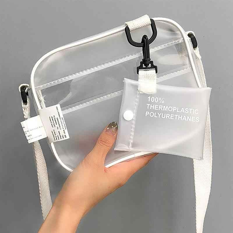 Цветные прозрачные женские Наплечные сумки из ПВХ, сумка на плечо, сумочка, желейные маленькие сумки для телефона с держателем для карт, Широкие ремешки с клапаном