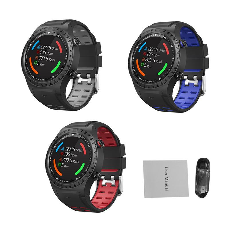 Chaude SMA-M1 GPS Sport Montre Smart Watch Hommes Bluetooth Appel-Sport Mode Boussole Altitude Sports de Plein Air Couleur Écran SmartWatch
